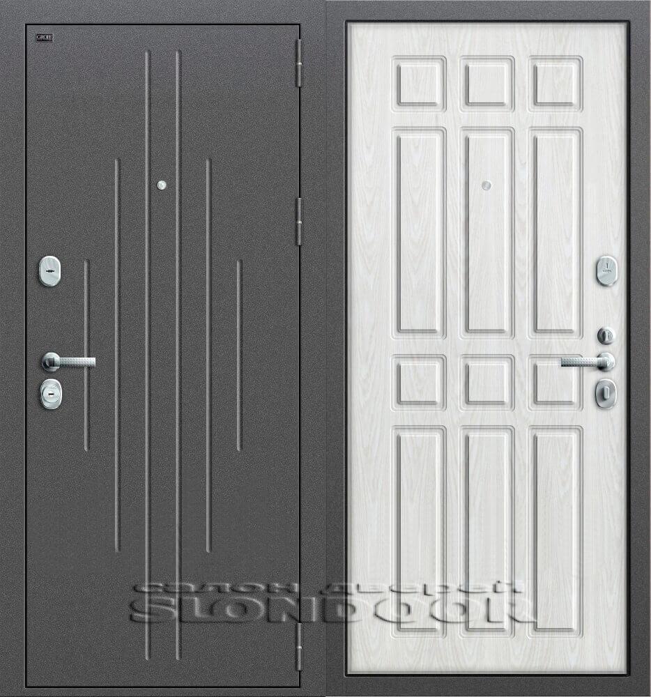 металлическая дверь с усиленной шумоизоляцией для квартир на первом этаже